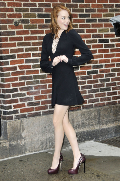 Emma Stone Little Black Dress