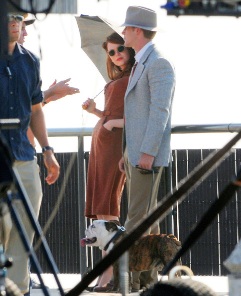 """Ryan Gosling and Emma Stone Film """"The Gangsters Squad"""""""