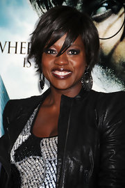 Viola Davis showed off a textured layered short cut while attending the 'Harry Potter and the Deathly Hallows' premiere.