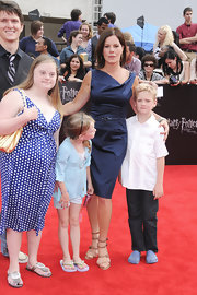 Marcia Gay Harden wore a pair of gladiator-inspired sandals at the NY movie premiere.