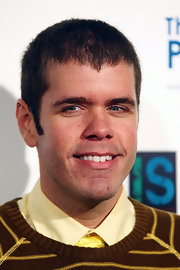 Perez Hilton styled his hair in a boyish Caesar cut for the Ripple Effect benefit.