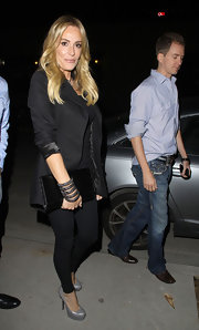 Taylor Armstrong stepped out to 'Star' magazine's All Hollywood event in sleek silvery gray platform pumps.