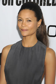 Thandie Newton showed off a sleek ponytail while hitting the the premiere of 'For Colored Girls'. The actress completed her look with minimal makeup and simple earrings.