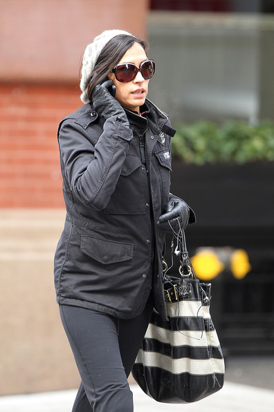 Famke Janssen Oval Sunglasses