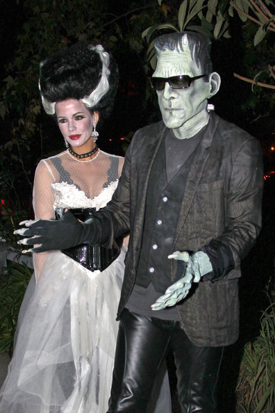 Frankenstein, er, Len was a bit pale, but at least his gray blazer looked stylish.