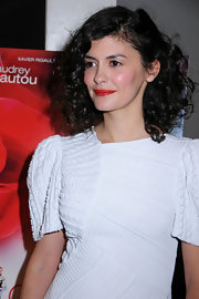 Audrey Tautou attended a screening of 'Delicacy' wearing her hair in bouncy curls.
