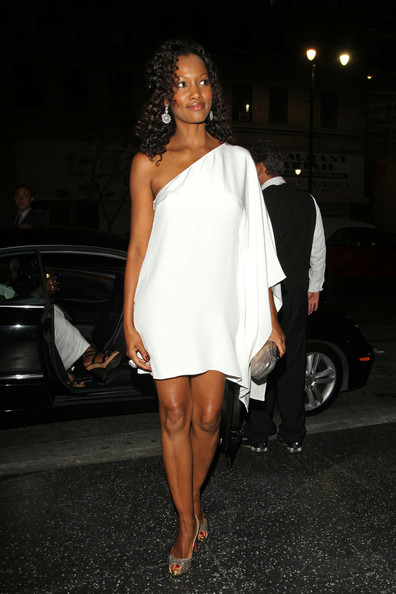 Garcelle Beauvais -Nilon One Shoulder Dress