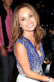 Giada kept it natural and fresh at the Chateau Marmont where she wore her hair layered.