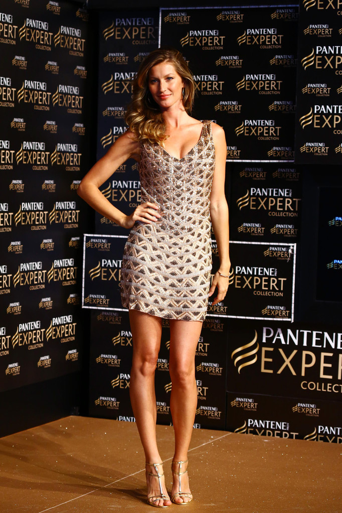 Gisele Bundchen attends a Pantene Shampoo P&G event to announce new hair products at Grand Hyatt hotel in Sao Paulo.