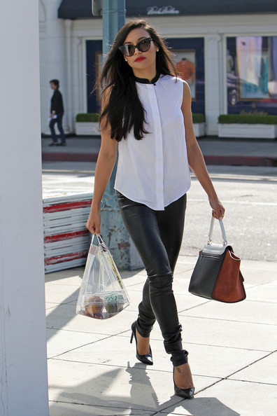 More Pics of Naya Rivera Button Down Shirt (5 of 19) - Tops Lookbook - StyleBistro