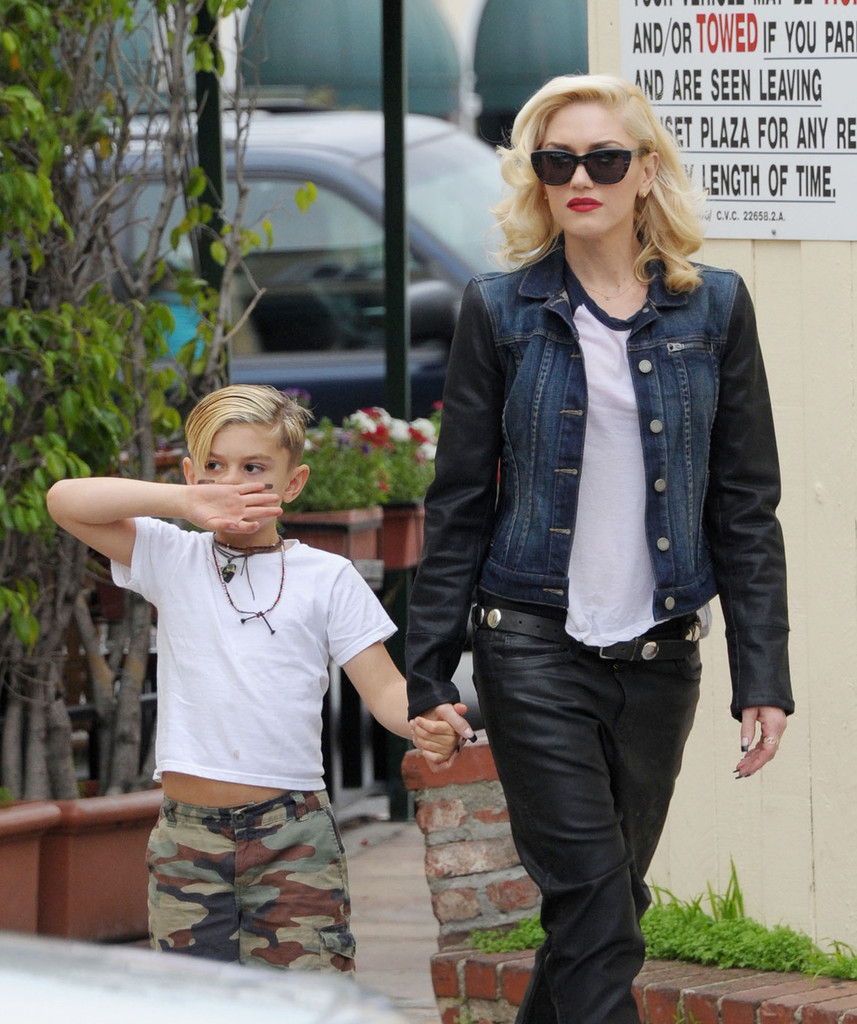 Gwen+Stefani in Gwen Stefani and Family Go to Lunch