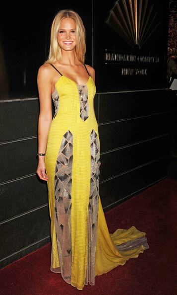 Erin Heatherton in Carolina Herrera's Art Deco Design