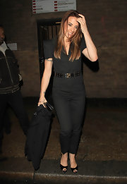 Mel C. attended the Best of British talent event in sleek black patent peep toes.