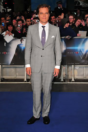 Michael Shannon rocked a classic look with this light gray two-button suit.