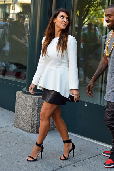 Kim+Kardashian in KimYe Out in Soho