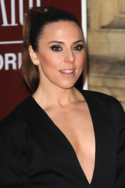 Mel C pulled her hair back in a high ponytail for the Gorby 80 gala.