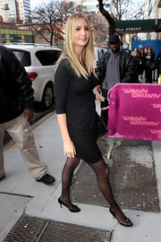 Ivanka Trump was out and about town in black pumps complete with bow detailing.