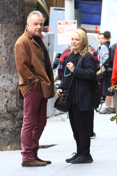 Jacki Weaver Hangs Out With a Friend in Hollywood