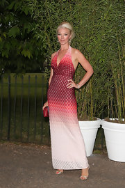 Tamara wore this red and white ombre halter dress to the Serpentine Gallery Summer Party.