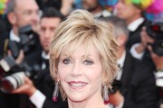 Jane Fonda Dangling Gemstone Earrings