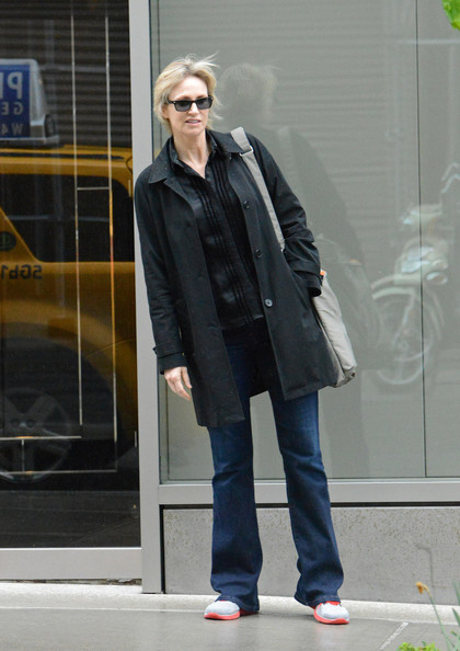 More Pics of Jane Lynch Trenchcoat (1 of 6) - Trenchcoat Lookbook - StyleBistro