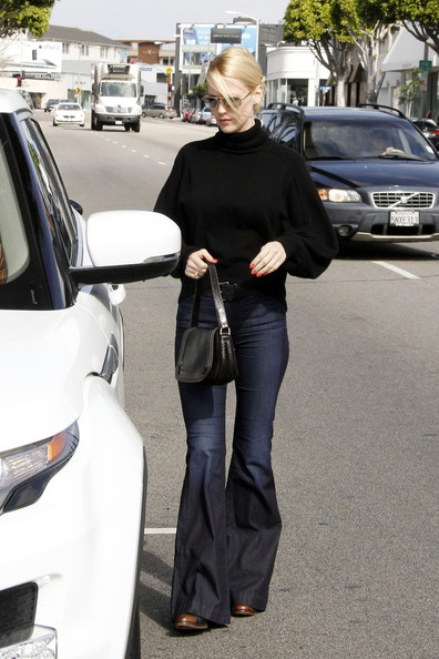 January Jones Leather Shoulder Bag