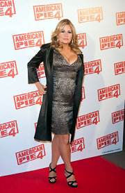 Jennifer Coolidge donned this iridescent cocktail dress to the 'American Pie: The Reunion' premiere.