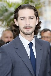 Shia LaBeouf rocked a curly 'do at the premiere of 'Lawless in Cannes.