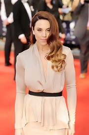 Mel C looked ultra sophisticated in a nude draped top at the British Olympic Team GB gala.