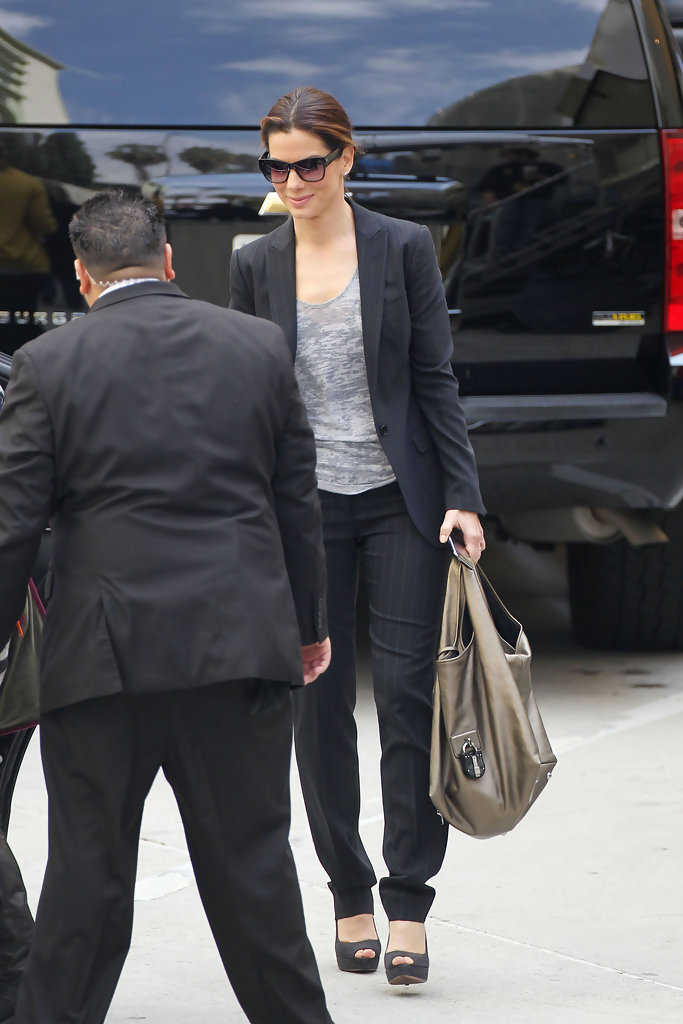 More Pics Of Sandra Bullock Pantsuit 1 Of 7 Sandra