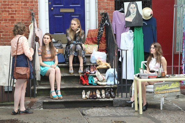 'Girls' on Set in Soho