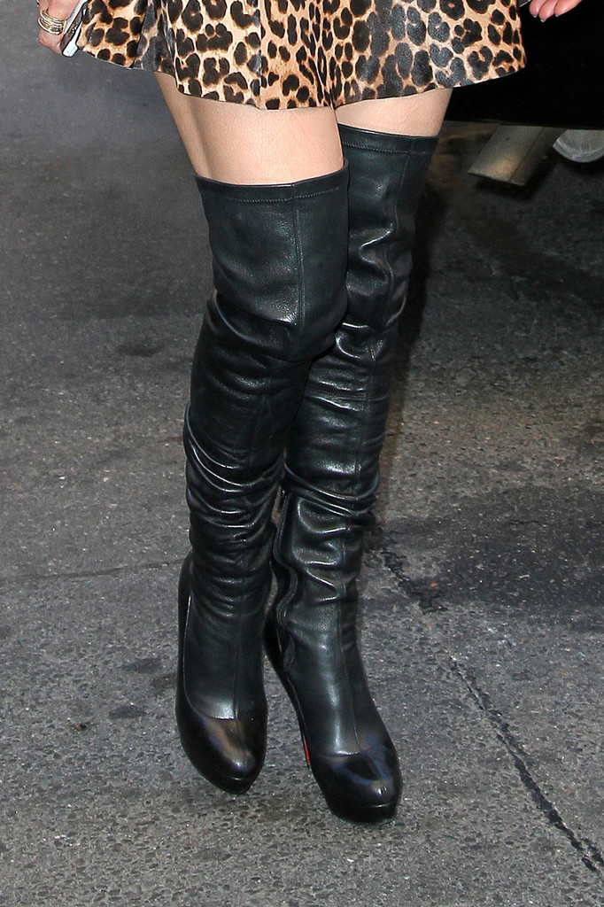 Jennifer Lopez Over The Knee Boots Boots Lookbook