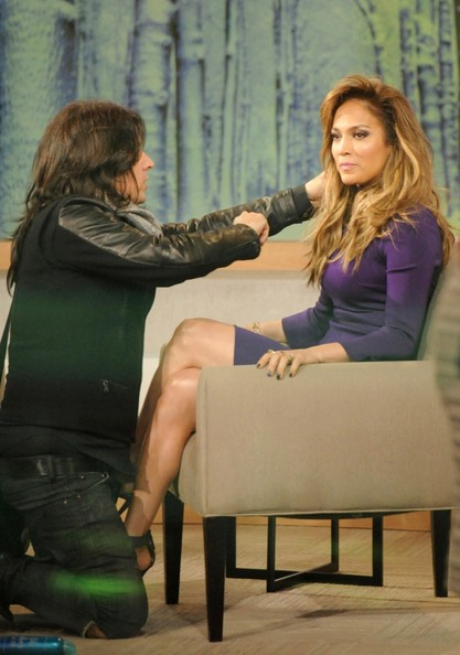 Jennifer Lopez Preps for an Interview