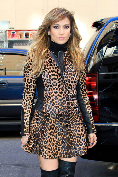 Jennifer Lopez Leather Jacket []
