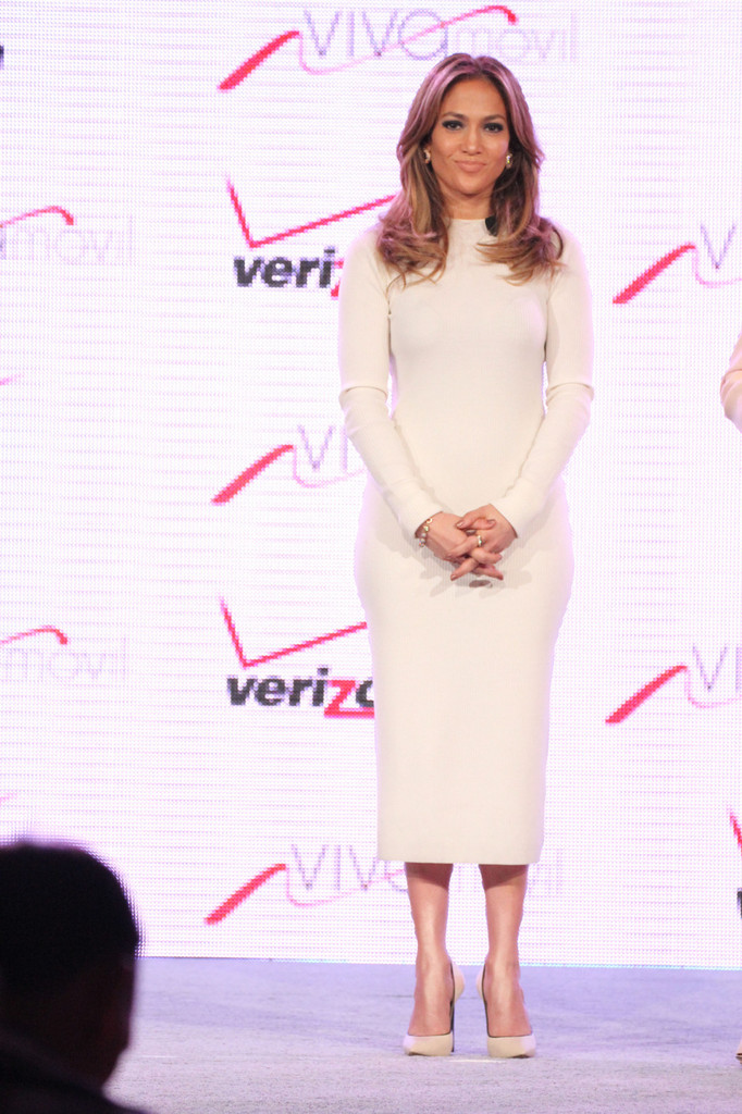 Jennifer Lopez is joined by Verizon Wireless COO Marni Walden to announce the launch of Viva Movil by Jennifer Lopez at the Venetian Hotel and Casino in Las Vegas. Lopez is the chief creative officer and majority owner of Viva Movil, a cellphone company that targets the Latino market.