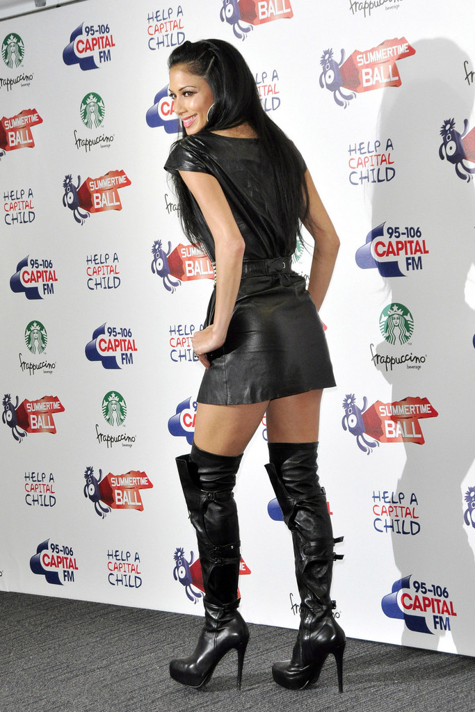 4bbc5a95db7 More Pics of Nicole Scherzinger Over the Knee Boots (1 of 11) - Over ...
