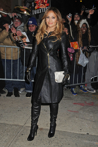 More Pics of Jennifer Lopez Leather Coat (5 of 8) - Jennifer Lopez Lookbook - StyleBistro