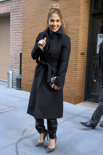 More Pics of Jennifer Lopez Wool Coat (2 of 15) - Wool Coat Lookbook - StyleBistro