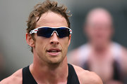 Jenson shows off another pair of sunglasses with these Oakley shades.