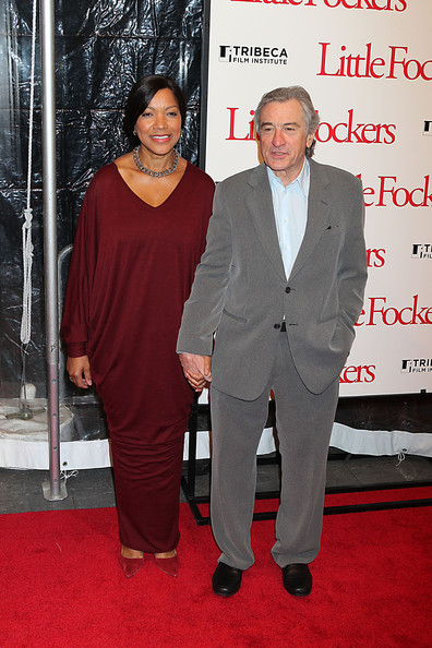 Robert goes gray in a soft heather suit.