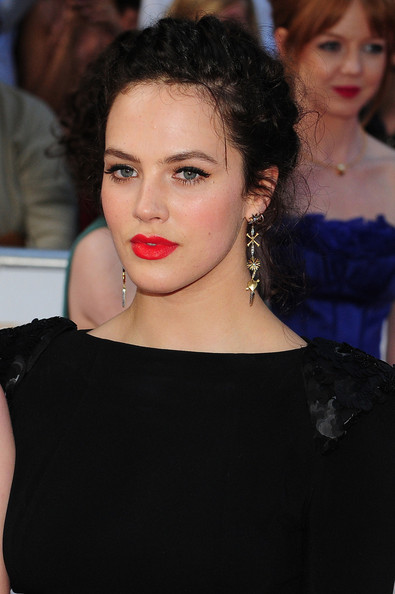 Jessica Brown-Findlay Bright Lipstick