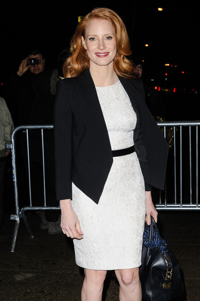 Zero Dark Thirty' star Jessica Chastain pays a visit to 'The Daily Show with Jon Stewart' in New York City