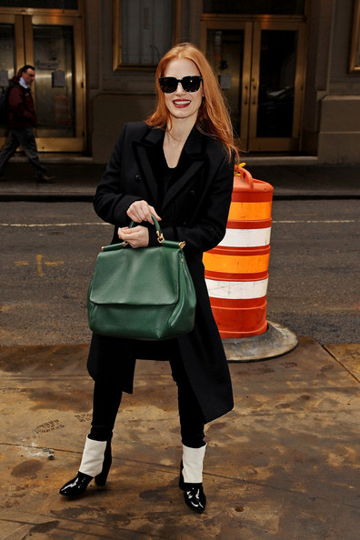 More Pics of Jessica Chastain Wool Coat (8 of 22) - Jessica Chastain Lookbook - StyleBistro