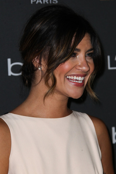 More Pics of Jessica Szohr Messy Updo (5 of 29) - Jessica Szohr Lookbook - StyleBistro