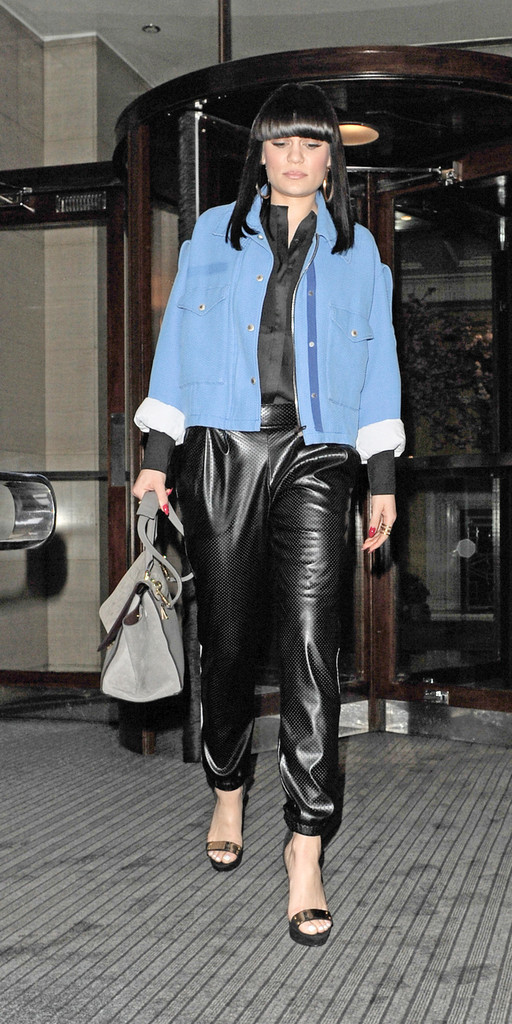 Jessie J Leather Pants Leather Pants Lookbook Stylebistro