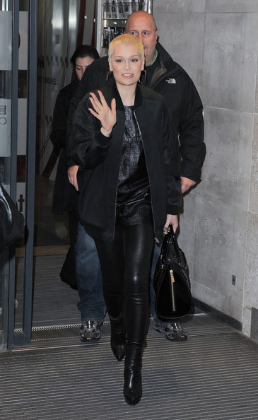 More Pics of Jessie J Leather Pants (1 of 25) - Pants & Shorts Lookbook - StyleBistro