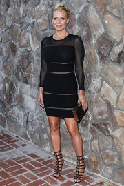 Laurie wore a sleek long-sleeve bandage dress to the Saturn Awards.