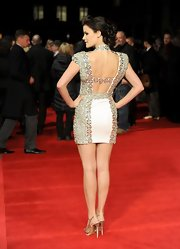 Jaimie Alexander wasn't afraid to show some skin on the red carpet in this bedazzled little white dress.