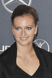 Petra pulled her hair back into this elegant updo at the Laureus World Sports Awards.