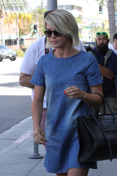 More Pics of Julianne Hough Denim Dress (1 of 9) - Denim Dress Lookbook - StyleBistro